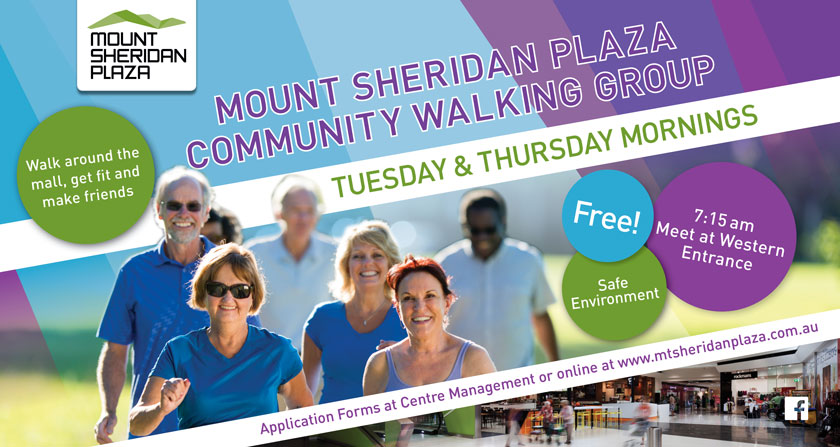 Get active at Mount Sheridan Plaza and join the Walking Group!