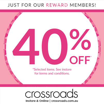 40% off at Crossroads