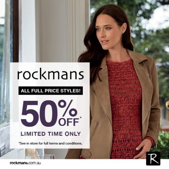 50% at Rockmans
