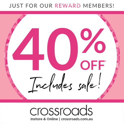 40% off at Crossroads!