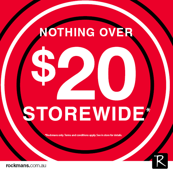 Nothing over $20