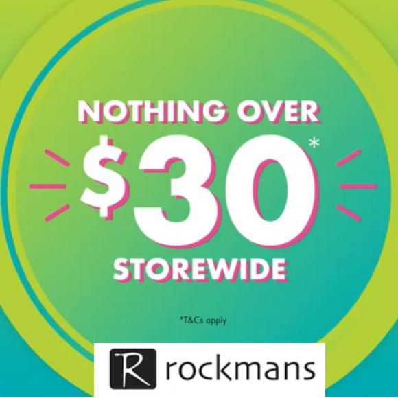 Rockmans $30 STOREWIDE SALE
