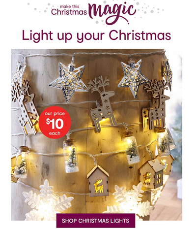 Light up your Christmas with Kmart