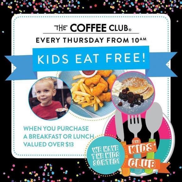 Coffee Club Kids Eat Free Deal