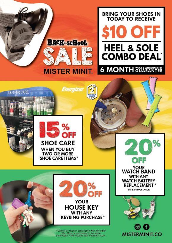 Mister Minit's SALE offers