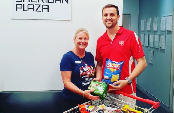Helping locals in need at the Mount Sheridan Plaza Community Pantry!