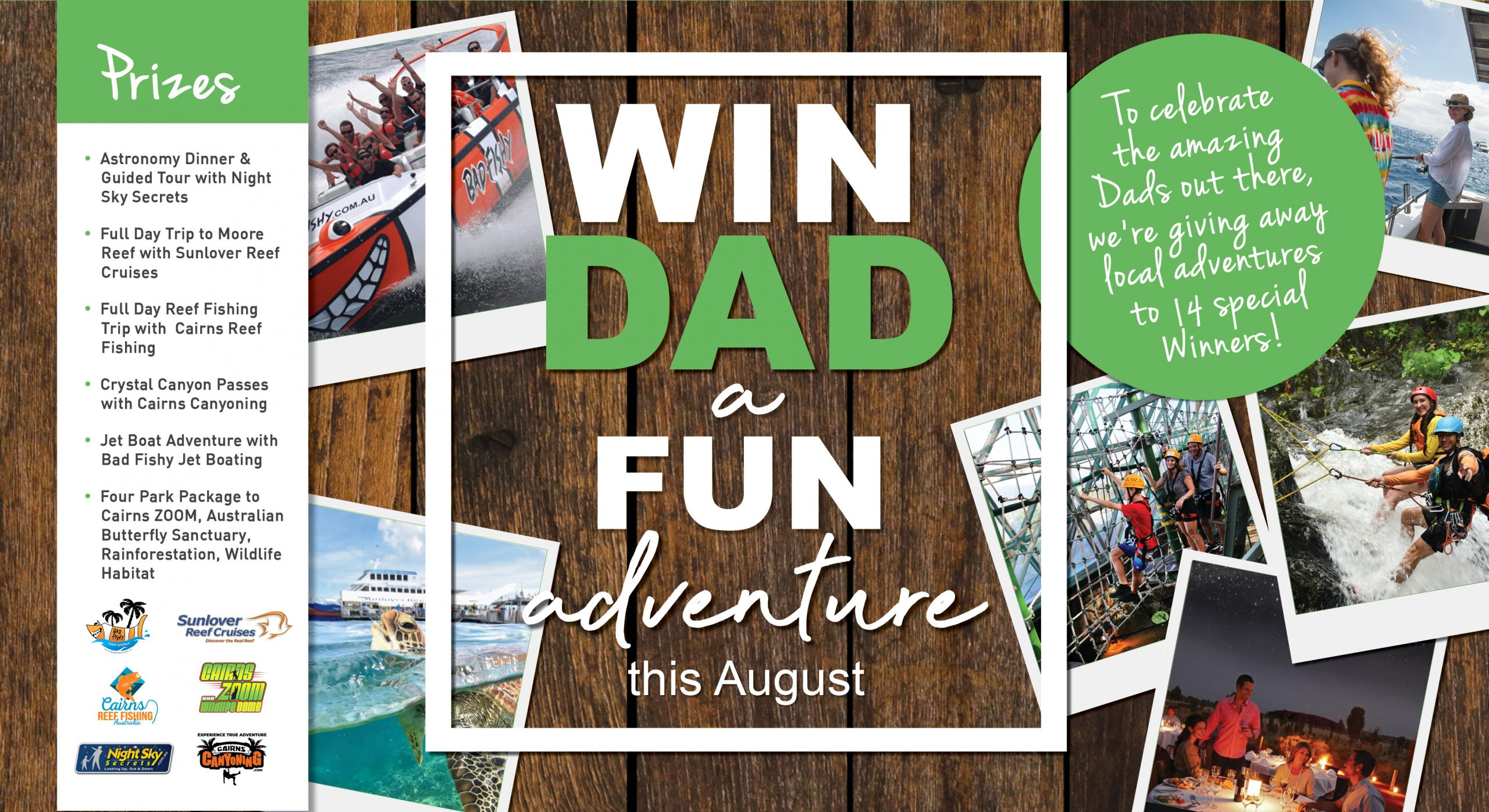WIN an Adventure for DAD!
