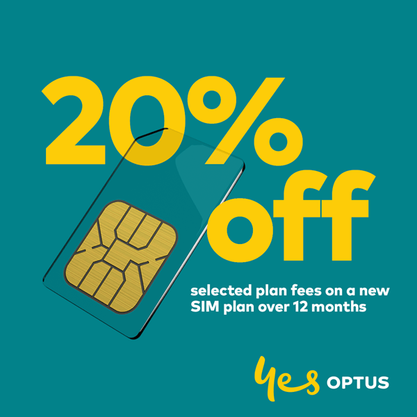 Optus 20% OFF Regional Sim Plans