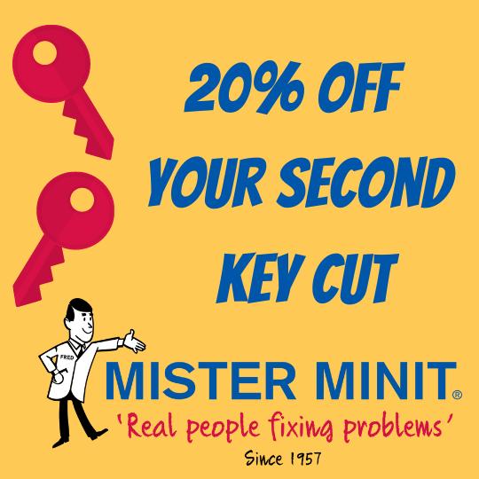 20% OFF Second Key Cut